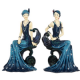Elegance in the 1920s Shudehill Range Figurine of Indigo Charleston Lady Sitting on a Chair 2 Styles available 35043